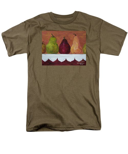 Men's T-Shirt  (Regular Fit) featuring the painting Pears On Parade   by Eloise Schneider