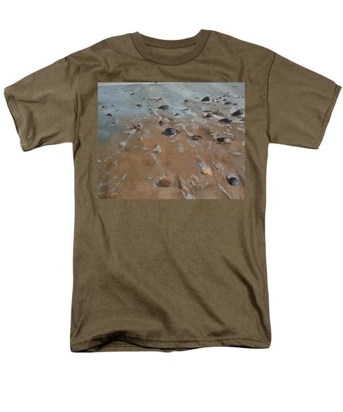Men's T-Shirt  (Regular Fit) featuring the painting Pebbles by Cherise Foster