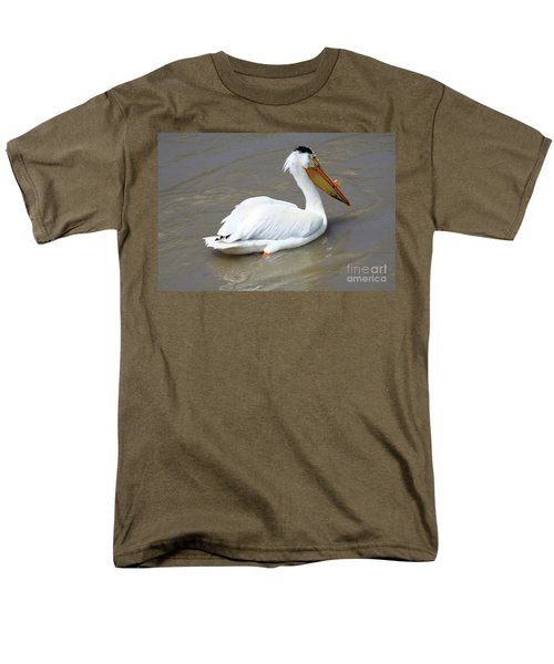 Men's T-Shirt  (Regular Fit) featuring the photograph Pelecanus Eerythrorhynchos by Alyce Taylor