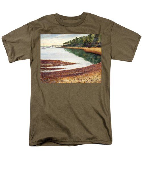 Men's T-Shirt  (Regular Fit) featuring the painting Penobscot Bay by Roger Rockefeller