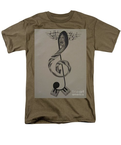 Men's T-Shirt  (Regular Fit) featuring the painting Personification Of Music by Jeepee Aero