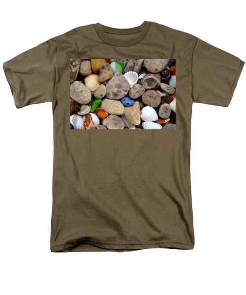 Petoskey Stones Lll Men's T-Shirt  (Regular Fit) by Michelle Calkins