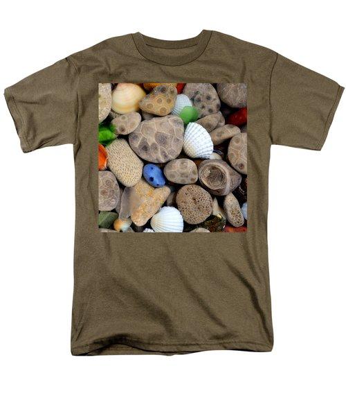 Petoskey Stones V Men's T-Shirt  (Regular Fit) by Michelle Calkins