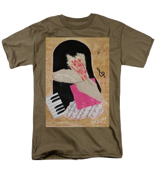 Men's T-Shirt  (Regular Fit) featuring the painting Piano Still Life by Mini Arora