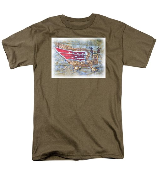 Men's T-Shirt  (Regular Fit) featuring the photograph Piasa Bird In Oils by Kelly Awad