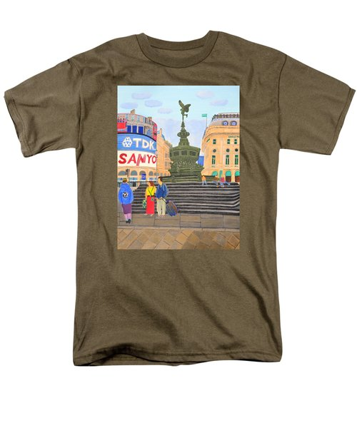 London- Piccadilly Circus Men's T-Shirt  (Regular Fit) by Magdalena Frohnsdorff