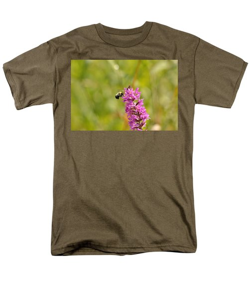Pink And Gold Men's T-Shirt  (Regular Fit) by David Porteus