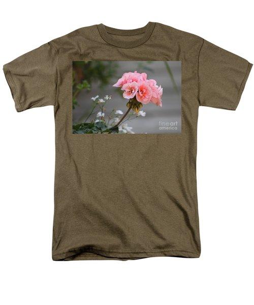 Pink Geranium Men's T-Shirt  (Regular Fit) by Leone Lund