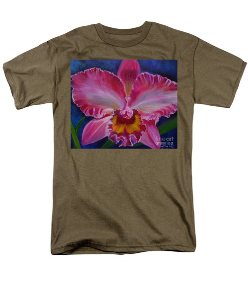 Men's T-Shirt  (Regular Fit) featuring the painting Pink Orchid by Jenny Lee