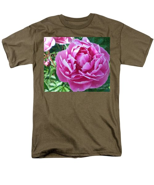 Pink Peony Men's T-Shirt  (Regular Fit) by Barbara Griffin