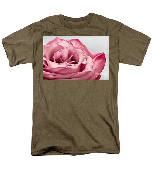 Pink Rose Macro Men's T-Shirt  (Regular Fit) by Carsten Reisinger