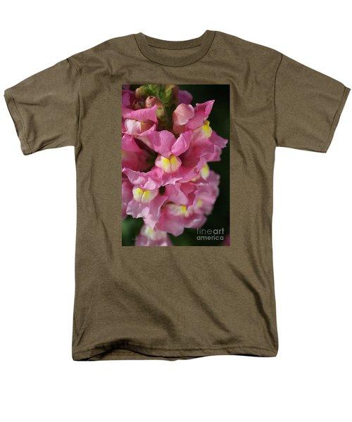Pink Snapdragon Flowers Men's T-Shirt  (Regular Fit) by Joy Watson