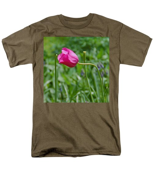 Men's T-Shirt  (Regular Fit) featuring the photograph Pink Tulip by Aimee L Maher Photography and Art Visit ALMGallerydotcom