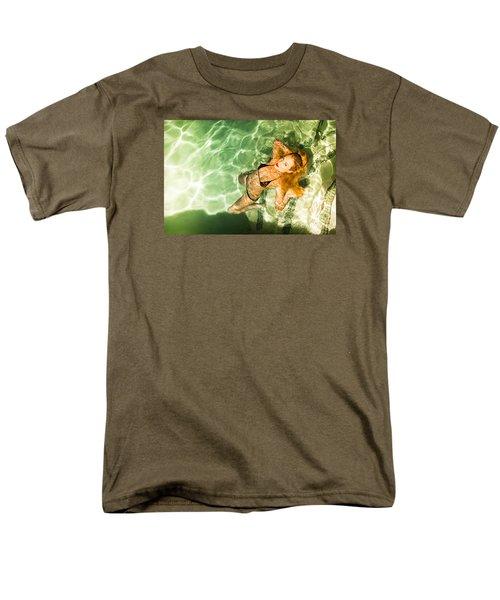 Men's T-Shirt  (Regular Fit) featuring the photograph Wet Piper Precious No73-5824 by Amyn Nasser