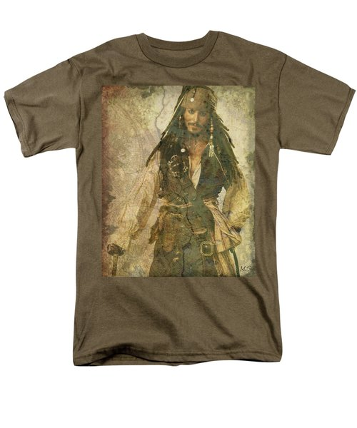 Pirate Johnny Depp - Steampunk Men's T-Shirt  (Regular Fit) by Absinthe Art By Michelle LeAnn Scott