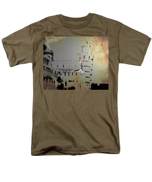 Men's T-Shirt  (Regular Fit) featuring the digital art Pisa Italy 1 by Brian Reaves