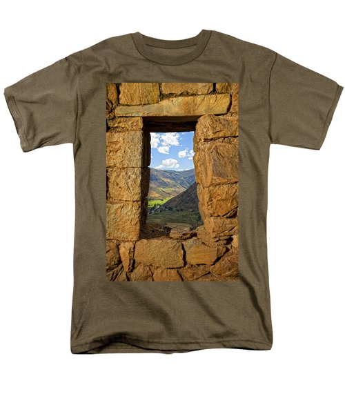 Pisac Ruins Men's T-Shirt  (Regular Fit) by Alexey Stiop