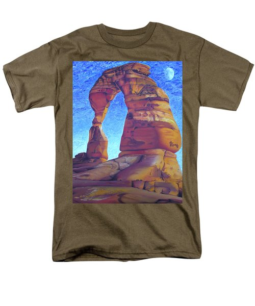 Men's T-Shirt  (Regular Fit) featuring the painting Place Of Power by Joshua Morton