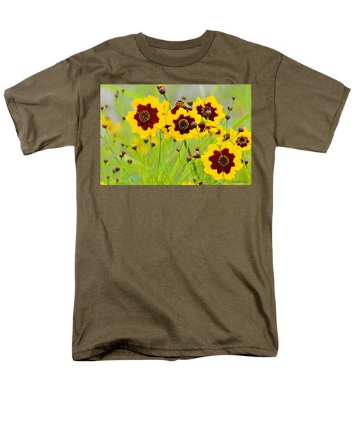 Plains Coreopsis Men's T-Shirt  (Regular Fit) by Walter Herrit