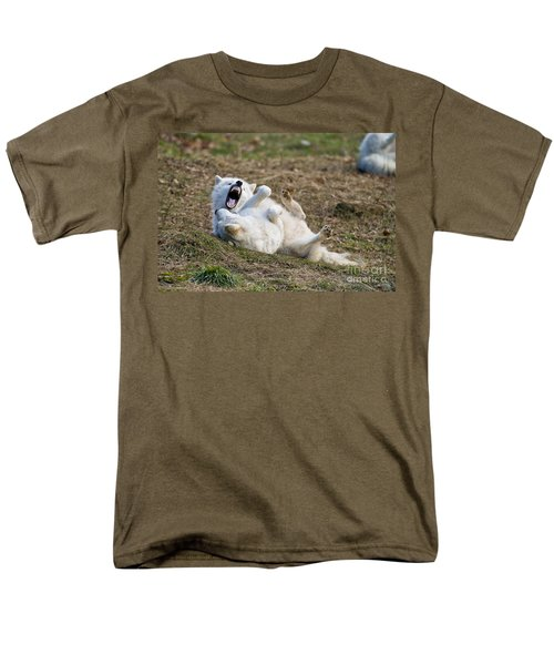 Men's T-Shirt  (Regular Fit) featuring the photograph Playful Arctic Wolves by Wolves Only