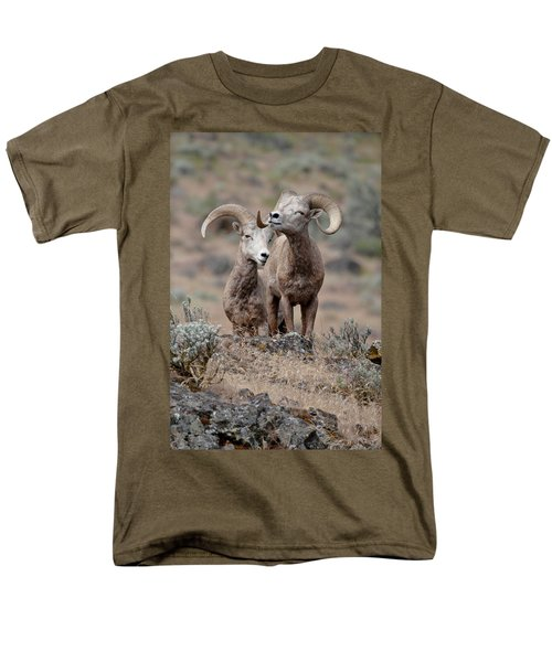 Men's T-Shirt  (Regular Fit) featuring the photograph Playfull Rams by Athena Mckinzie