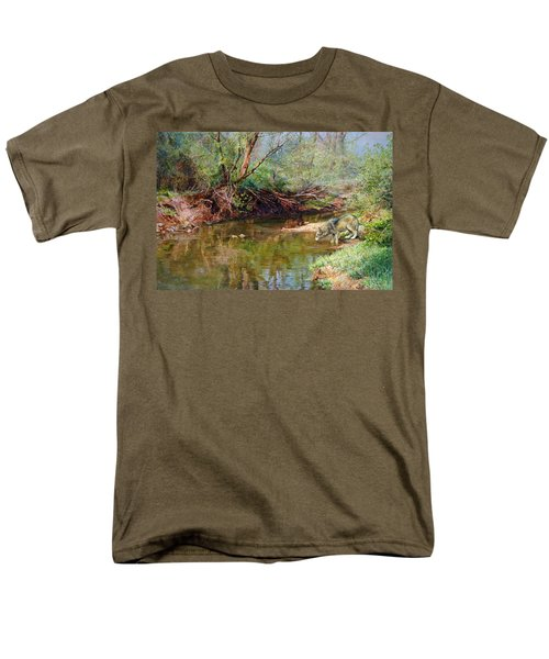 Pleasure Of  The Enchanted Wolf Men's T-Shirt  (Regular Fit) by Svitozar Nenyuk