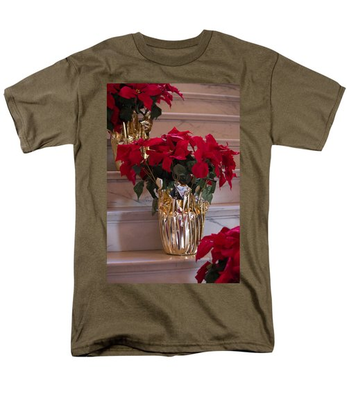 Poinsettias Men's T-Shirt  (Regular Fit) by Patricia Babbitt