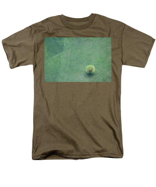 Men's T-Shirt  (Regular Fit) featuring the photograph Point In The Plane by Davorin Mance