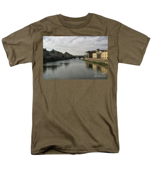 Men's T-Shirt  (Regular Fit) featuring the photograph Ponte Vecchio by Belinda Greb