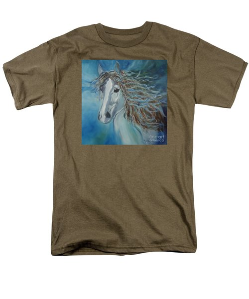 Men's T-Shirt  (Regular Fit) featuring the painting Pony by Jenny Lee