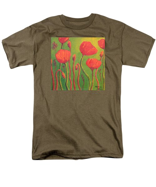 Men's T-Shirt  (Regular Fit) featuring the painting Poppy Field by Nancy Jolley