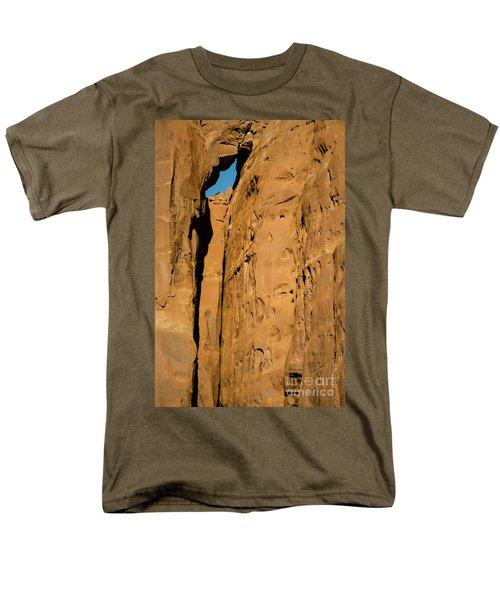 Men's T-Shirt  (Regular Fit) featuring the photograph Portal Through Stone by Jeff Kolker