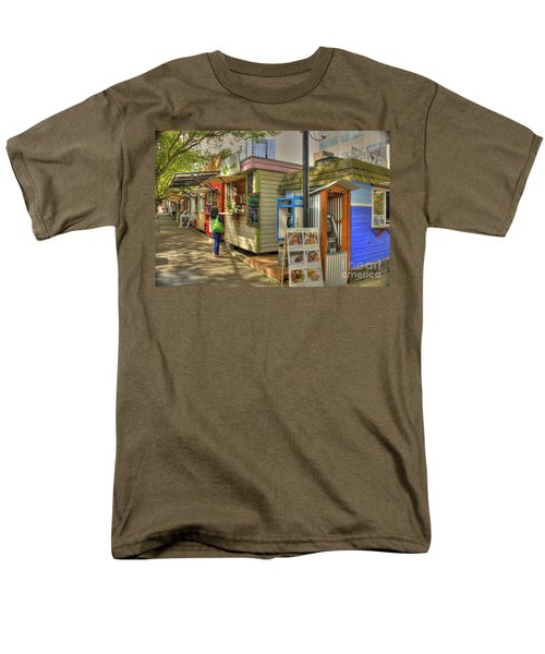 Portland Food Carts Men's T-Shirt  (Regular Fit) by David Bearden