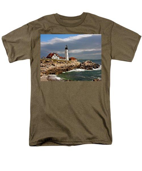 Men's T-Shirt  (Regular Fit) featuring the photograph Portland Headlight by John Haldane