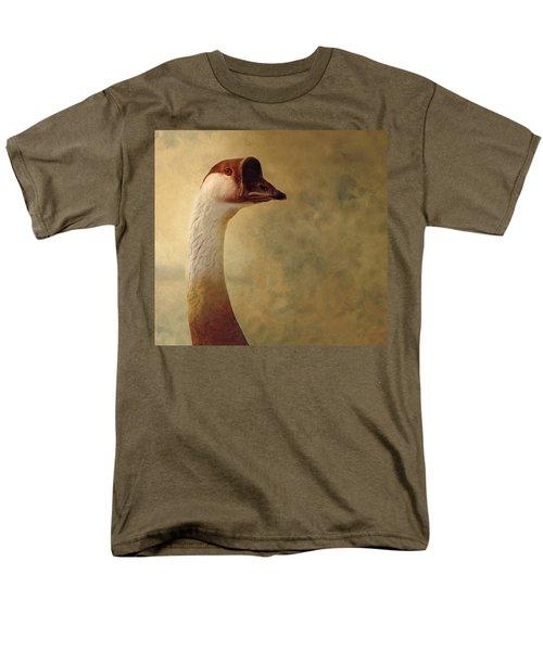 Portrait Of A Goose Men's T-Shirt  (Regular Fit) by Fran Riley
