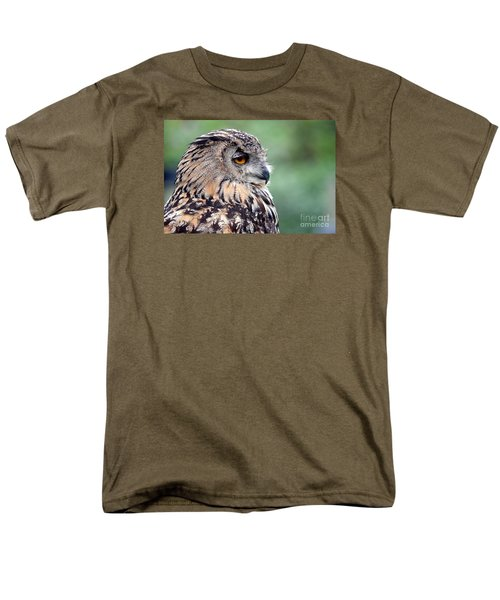 Men's T-Shirt  (Regular Fit) featuring the photograph Portrait Of A Great Horned Owl by Jim Fitzpatrick