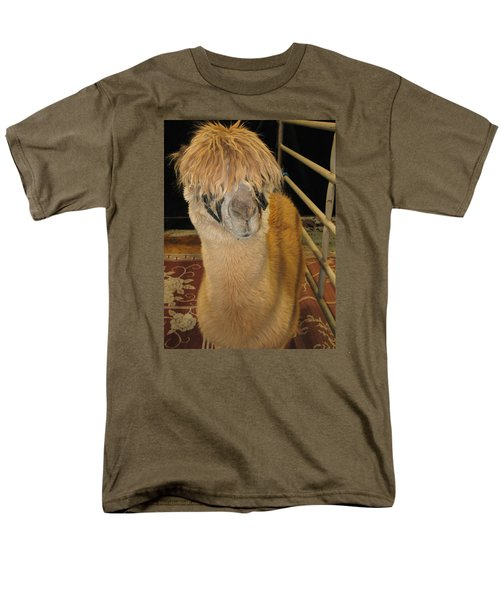 Men's T-Shirt  (Regular Fit) featuring the photograph Portrait Of An Alpaca by Connie Fox