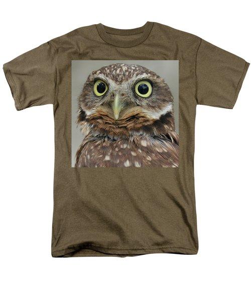 Portrait Of Burrowing Owl Men's T-Shirt  (Regular Fit) by Ben and Raisa Gertsberg