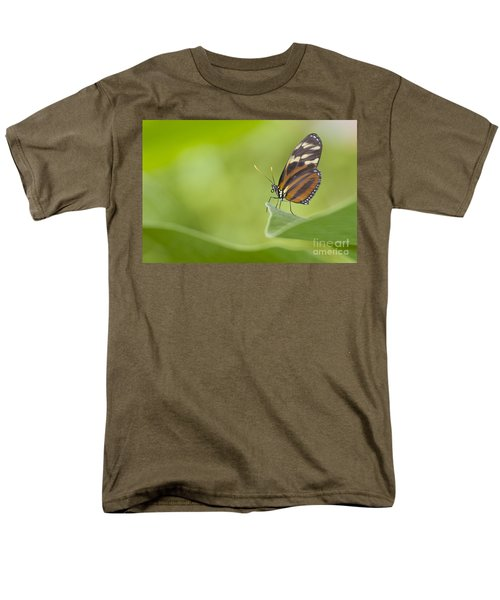 Men's T-Shirt  (Regular Fit) featuring the photograph Postman On A Leaf by Bryan Keil