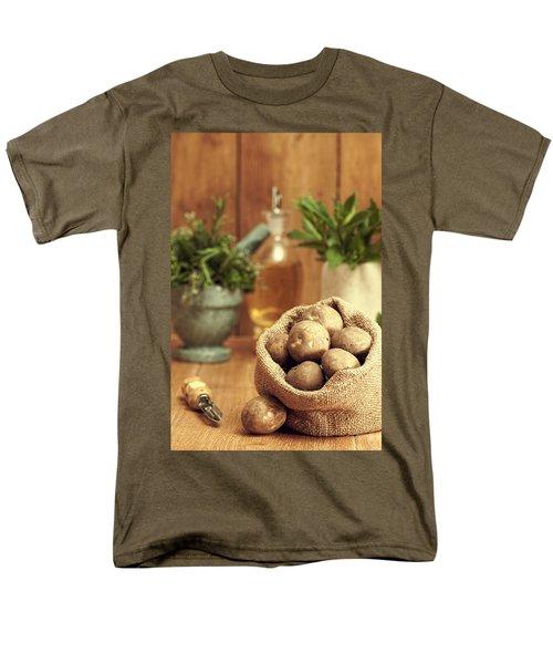 Potatoes Men's T-Shirt  (Regular Fit) by Amanda Elwell