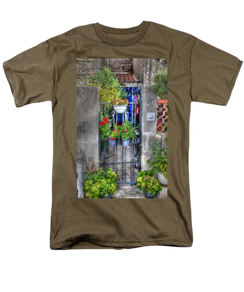 Men's T-Shirt  (Regular Fit) featuring the photograph Pots Perouge France by Tom Prendergast