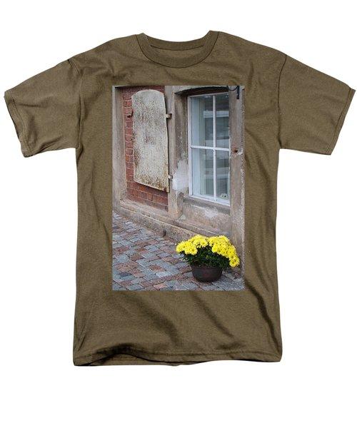 Potted Flowers  Men's T-Shirt  (Regular Fit) by Richard Rosenshein