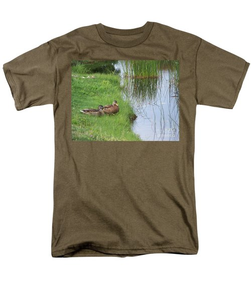 Men's T-Shirt  (Regular Fit) featuring the photograph Mated Pair Of Ducks by Eunice Miller