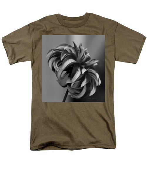 Profile Of Not Santa Two In Black And White Men's T-Shirt  (Regular Fit) by Jeanette C Landstrom