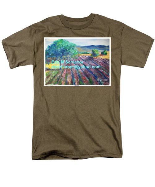 Provence Lavender Field Men's T-Shirt  (Regular Fit) by Eric  Schiabor