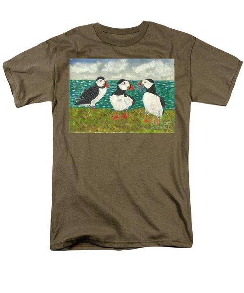 Puffin Island Men's T-Shirt  (Regular Fit) by John Williams