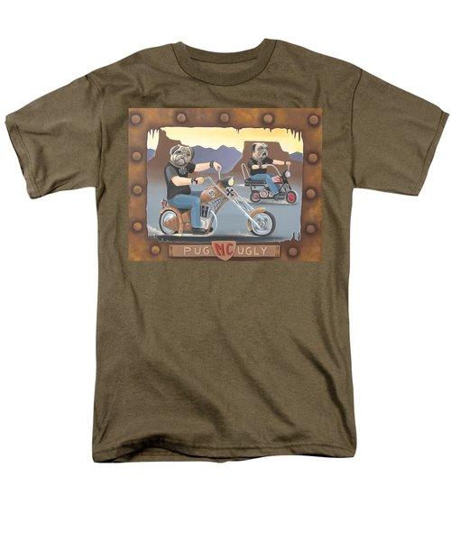 Pug Ugly M.c. Men's T-Shirt  (Regular Fit) by Stuart Swartz