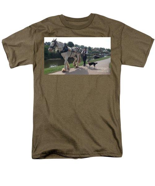 Pulling The Barge Men's T-Shirt  (Regular Fit) by John Williams