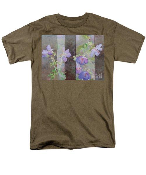 Purple Ivy Geranium Men's T-Shirt  (Regular Fit) by Laurel Best
