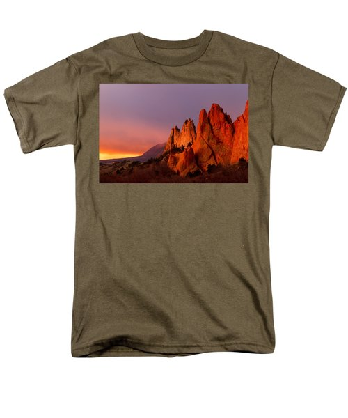 Men's T-Shirt  (Regular Fit) featuring the photograph Purple Morning At Garden Of The Gods by Ronda Kimbrow